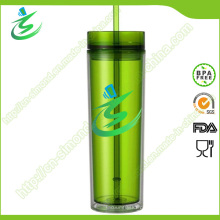 16 Unzen Werbeartikel Acryl Stroh Tasse, BPA-frei
