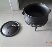 Drei-Bein-Qualitäts-Gusseisen-Potjie Pot Bauchtopf 3 für Camping