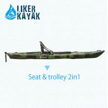 Kayak Fishing Boats 4.3m Single Seat LLDPE/HDPE OEM/Pdm Available