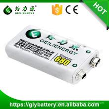 Batería recargable de Li-ion 680mah 9V Geilienergy