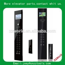 Elevador, botão, elevador, toque, vidro, bobina, e, lop, elevador, toque, policial, lop