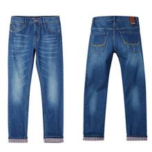 Fábrica Men Cotton Pants Moda Denim Jeans para 2017