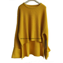Fashion Loose Extra Sleeve Ladies Knit Pullover Sweater
