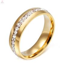 2017 novo modelo de titânio anel de casamento de aço para o casal