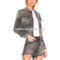 dernières femmes denim veste fashion jeans et ensemble de vêtements de manteau