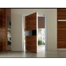 Diseño de puerta de madera maciza, puerta de entrada principal, puerta de la sala de chapa