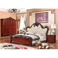 Sistema de muebles del dormitorio de estilo francés de China fábrica lujo (A6007)