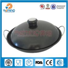wok chinês anti-aderente em aço inoxidável antiaderente