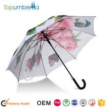 Protección UV promocional Paraguas paraguas auto abierto paraguas transferencia de calor