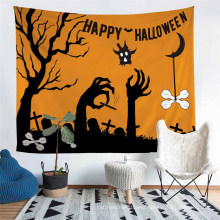 Tapestry with 3D Printed Cartoon Halloween Pattern