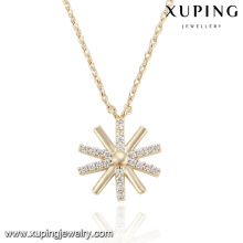 43117- Xuping Copper Chain Necklace European Style Snow Pendant Necklace