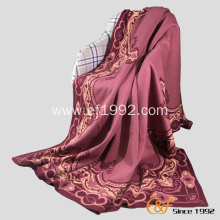 Wool Acrylic Jacquard Luxury Knitted Winter Blanket