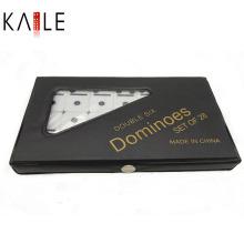 Elfenbein Dominoes Double 6 PVC Box Verpackung