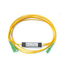 Divisor de PLC de fibra óptica com tipo de inserção, mini caixa de divisão óptica tipo divisor de 1x8