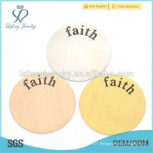 Plates wholesale sliver floating plates charms pray hope jewelry for gifts