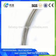 Cable de acero inoxidable 7x7 7 * 19 Fabricante