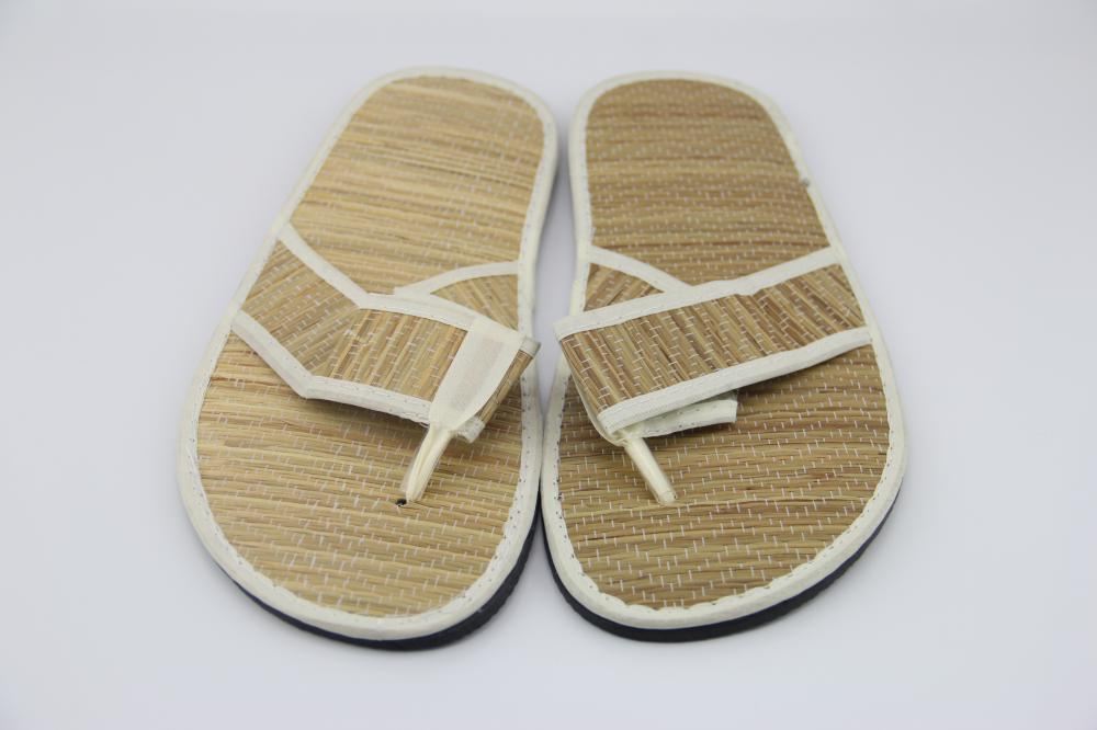 Straw Mat Flip Flop Slipper Spa