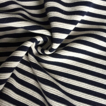 Polyester cotton yarn dyed stripe Jacquard fabric