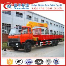 Dongfeng 10 ton truck crane, crane truck para la venta