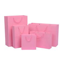 Bolso de compras de papel barato respetuoso del medio ambiente para embalar la ropa