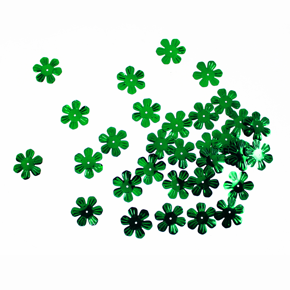 Green Flower shape Sequin
