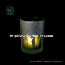 Цветные стеклянные чашки для свечей от SGS (KLB130916-220)