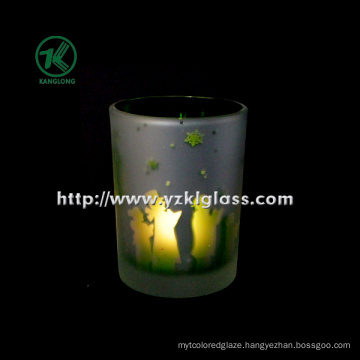 Color Double Wall Glass Candle Cup by SGS (KLB130916-220)