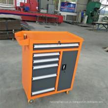 Movimento de armário de ferramentas de aço com armário de ferramentas de 4 rodas