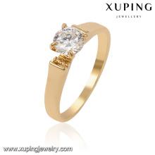 13958-Xuping Best Quality Simply Gold anillo de diseño para bodas