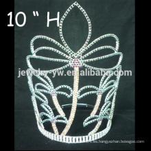 Los accesorios del pelo de la boda platearon los barrettes cristalinos de la muchacha de la tiara de la flor