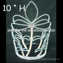 Casamento acessórios para o cabelo banhado a prata cristal tiara menina flor barrettes