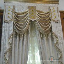Costas bonitas e quentes de moda desenham cortinas de cortinas frescas com valência em anexo