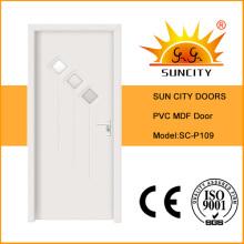 Good Quality Glass MDF PVC Door (SC-P109)