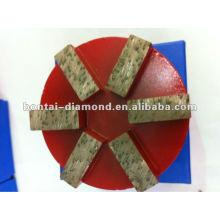Concrete Floor Grinding disc with 6 rectangle segments