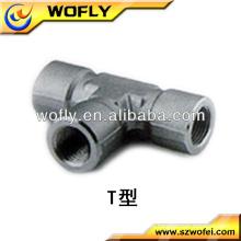 Conexão de tubo de aço inoxidável fêmea T Interchangeable with Swagelok Tube fittings