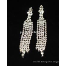 Neue Förderung-Braut elegante silberne Tropfen-Kristallbolzen-Ohrringe