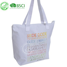 Reusable waterproof 600D oxford shopping tote bag for shopping