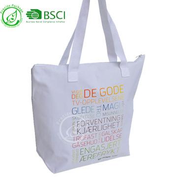 La bolsa de asas impermeable reutilizable de las compras 600D Oxford para hacer compras