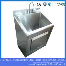 Stainless Steel One-Person Scrub Sink (THR-SS011)