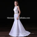 2017 new fashion mermaid evening dress white color laced bridesmaid dresses south africa with small tail