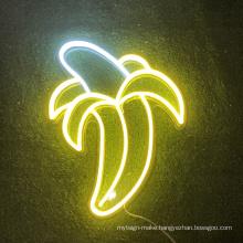Wholesale RGB banana neon signs  custom led neon logo sign for room decorative