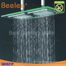 50 * 25cm Hydro Power LED plafond de verre monté sur tête de douche (qh321f)