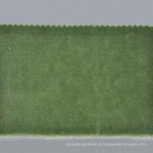 estoque Tecido de veludo verde-oliva para vestuário