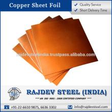 Hoja de la hoja de la mejor calidad de cobre con alta conductividad térmica para la venta