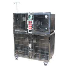 Animal cages 304 stainless steel  dog breeding cage with Oxygen door