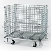 Heavy Duty Stapelbarer Faltbarer Metalldraht Gabion Roll Cage Container