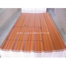 Material de construção de plástico UV de 3 camadas para telhado