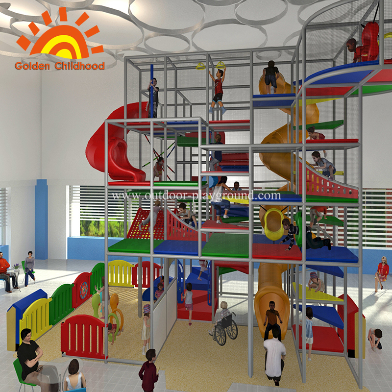 Large play area indoor mall with playground