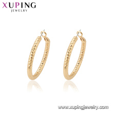 95110 Simply design distinctive style indian gold thickness hoop earrings for wholesale
