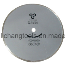 Diamond Blades with Continuous Rim for Wet Cutting